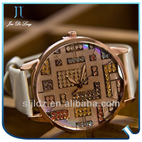 2013 Beautiful Stone Decorated Women Watches 3g cell phone watch