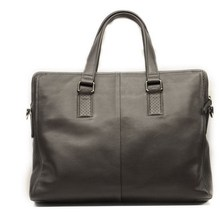 black claf-skin leather men handbags high quality business bags briefcase