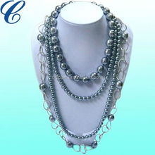 glass Pearls By The Yard Necklace Tin Cup Style 18 inch