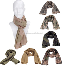 Versatile Arab Army Tactical Camouflage Scarf Men Military Jungle Combat Windproof Mesh Shawl Veil Outdoor Cycle Hunting Scarves