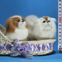 cute custom cartoon toy plastic indoor playground miniature fur dogs
