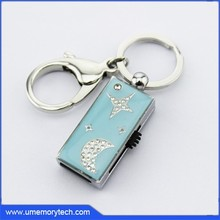 Star+moon design creative usb flash drive products pen drive key chains crystal usb flash