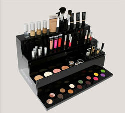 Hot sale counter top black acrylic mac makeup display stand