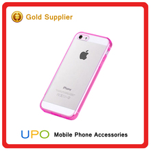 [UPO] Clear pc+tpu Bumper Armor Hybrid Wholesale Phone Case for iphone 5 case,for iphone 5s cover