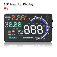 """5.5"""" Car Head Up Display kits _Display Five Color_Design for safe driving_Nano Technology to Eliminate Unwanted Refection"""