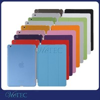 China supplier leather smart cover transparent back case for iPad mini 123