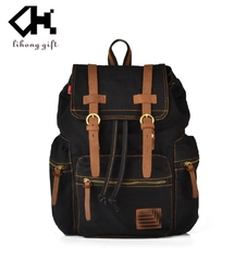 2015 China import functional and durable cheap vintage canvas backpack canvas bag