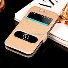 2 Window Magnetic Stand Folio Pouch for Samsung Galaxy J1 J100H, For Samsung Galaxy J1 J100H book style phone case