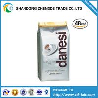 silver foil coffee bag/raw coffee bean bag/coffee plastic bag