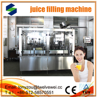 Fruit Juice Plant For Apple/Orange/Pineapple Juice Filling automatic 3 in1 juce filling machine