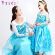 2015 new style princess costume adult size frozen elsa dress wholesale