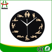 novelty sex clock funny sexy position pattern wall