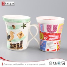 stock sale secure giraffe decal ceramic mug with lid