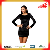 Black Velvet Cut-out Back Mini Dress fancy dress adult fairy