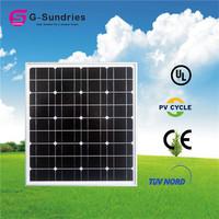 CE/IEC/TUV/UL mono 50w solar panel 12v