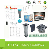 Fordable Banner Pop/Roll/Pull up Exhibition Display Stand Show W/PVC Screen