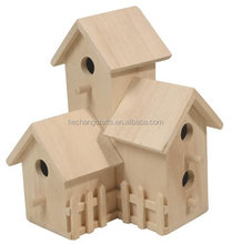 Cheap decorative wood carved bird houses, custom wood house