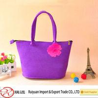 Fancy design Ladies felt shoulder bag