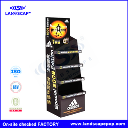 5 layers floor corrugated paper display showcase /fack for Sport Products
