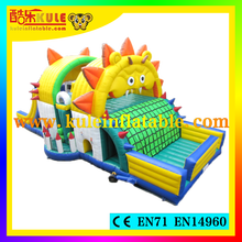 2015 commercial inflatable Sunflower obstacle course cheap giant inflatable obstacle course for kids