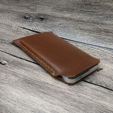 9500 handmade leather mobile phone sleeve for iphone 5S 5 phone pouch