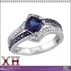 2016 New Arrival 925 Sterling Silver Jewelry Blue Sapphire Fashion Ring