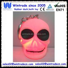 LED plastic skull keychain for halloween