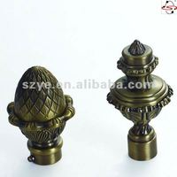 S39 curtain rod mounts,poles and piples,copper color with line design