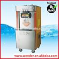 comercial 3 sabores utilizados soft serve de yogur que hace la máquina