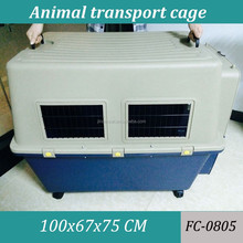 Pet Plastic Kennel Carrier Travel Dog Cat Cage Crate 100x67x75cm size
