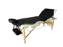Best Hot sales!!!3 section wooden portable stationary massage bed