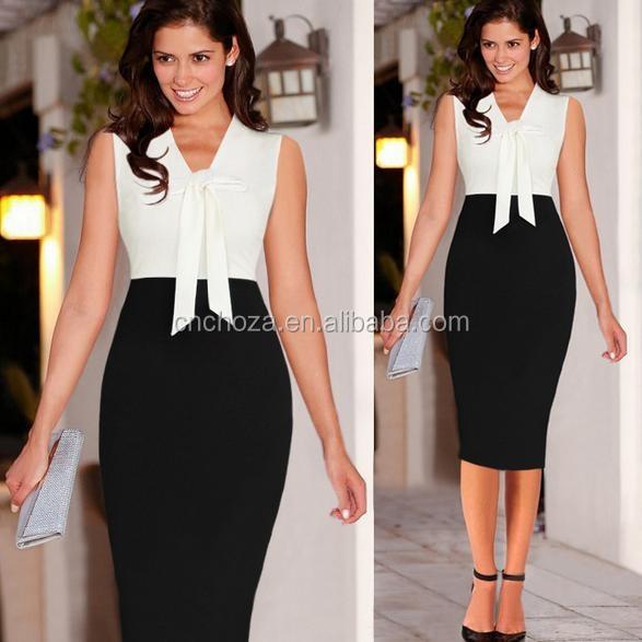 Z51068a Women Career Wear Alibaba Clothing Office Lady Pencil Dress Professional Women Dress