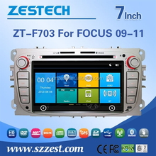 2 din car dvd for Ford focus 2009-2011 silver color car audio player with buletooth gps Radio RDS