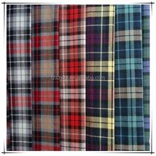 Fios de alta qualidade tingido 100% algodão lençol tecido