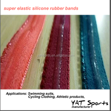 Elastic webbing none logo Super elastic silicone rubber bands