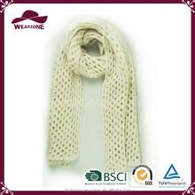 Alibaba China Beautiful Beige Net Knit Scarf