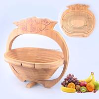 New design tomato shape bamboo fruit storage basket bamboo gift box