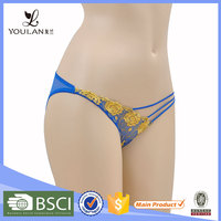 New Arrival Wide Style Embroidered Blue Sexy Woman In Panty Images