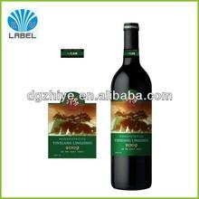 oem personalizada de alta clase rollo adhesivo de etiqueta de la etiqueta del vino
