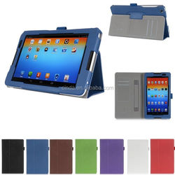 """Hand Strap Leather Case Skin Card Wallet Cover For Lenovo A8-50 A5500 8"""" Tablet"""