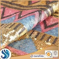 paillette embroidered tulle fabric sequin spangle embroidery fabric polyester mesh organza cheap wholesale fabric