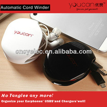 auriculares enrollador automático de plástico enrollador de cable para auriculares