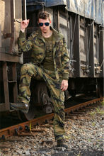 Outdoor leisure military style mens cotton jacket
