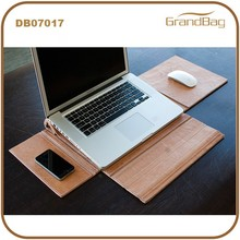 Genuine Leather Handmake Multifunction PC Bags Laptop Bag with Mouse and Mobile Phone Mat for Macbook AIR Pro