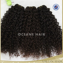 Full cuticle tangle free no shedding no chemical wholeale unprocessed virgin jerry curl weave extensions human hair