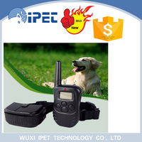 Ipet 330yd rechargeable remote led dog training collar with vibration