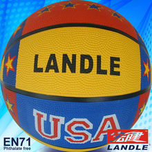 single or multicolor printing leather rubber basketball balls