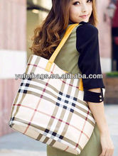 High Quality PU Leather Shopping Tote Bag