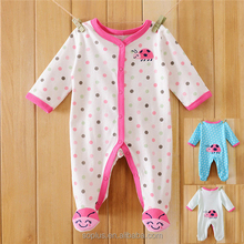SFK1508101 Baby Clothing 2015 100% Cotton Jumpsuit Footed Baby Infant Newborn Clothes Polar Fleece Fabric Romper Baby Product