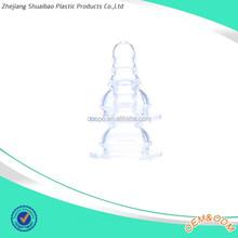 EU Standard feeding bottle nipple liquid silicon standard baby nipple wholesale